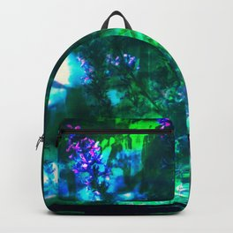 Wildflowers Goth Abstract Backpack