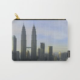 Panoramic view of the Petronas Towers in Malaysia at dusk Carry-All Pouch