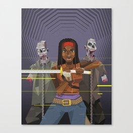 Michonne - The walking Dead Canvas Print