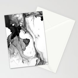 Soft Black Marble Stationery Cards
