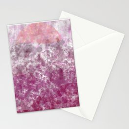 Pink Mountian SunSet Stationery Cards