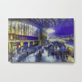 Kings Cross Station Van Gogh Metal Print