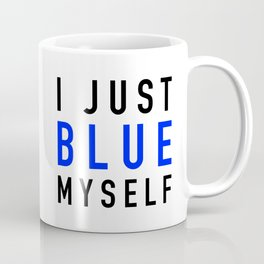 Blue Myself Coffee Mug