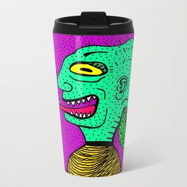 PUKE N' PYRAMIDS. Metal Travel Mug