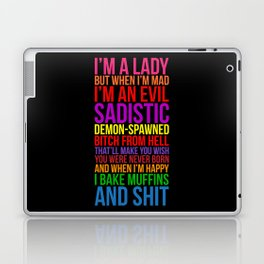 I'M A LADY BUT... Laptop & iPad Skin