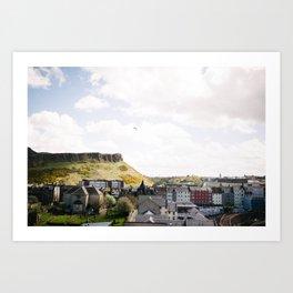 Flying in Edinburgh Art Print