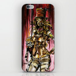 Zombie Ventriloquist Girl iPhone Skin