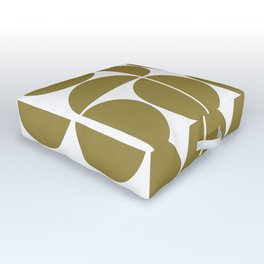 Mid Century Modern Geometric 04 Flat Gold Outdoor Floor Cushion