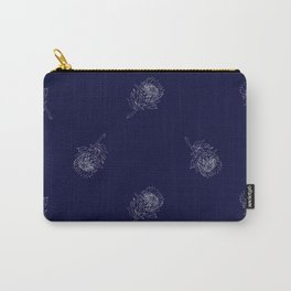 King Protea Outline - Navy and White Carry-All Pouch