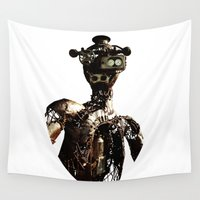 robot Wall Tapestries featuring robot by Кaterina Кalinich