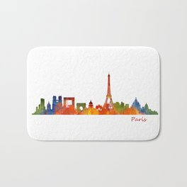 Paris City Skyline Hq v1 Bath Mat