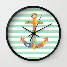 Pastel Party 5 Wall Clock