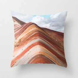 Rainbow Mountain Throw Pillow
