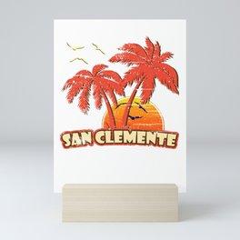 San Clemente Vintage Sunset Mini Art Print