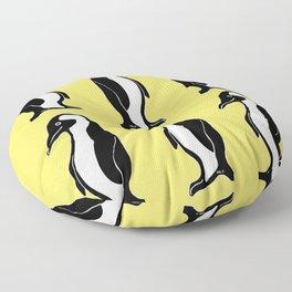 Penguins Pattern Yellow Floor Pillow