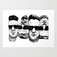 reservoir dogs Art Prints featuring The Reservoir Dogs  by Shalimar Luis