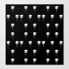 skulls pattern Canvas Print