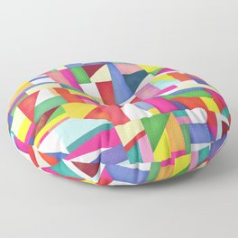 Colorful grid design Floor Pillow
