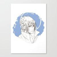 sasuke Canvas Prints featuring Sasuke by ilaBarattolo