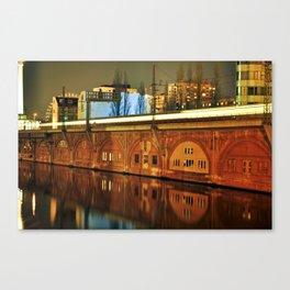 NIGHTTRAIN - RIVERSIDE - BERLIN Canvas Print