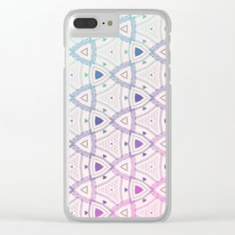 Rounded Triangle Blue Pink Gradient Clear iPhone Case