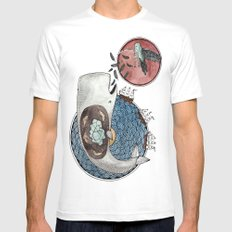 New Version Whale Mens Fitted Tee White MEDIUM