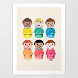 Little Girls Art Print