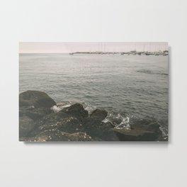 Harbor Rocks Metal Print