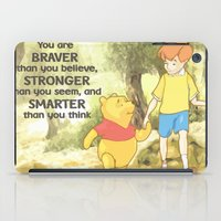 winnie the pooh iPad Cases featuring WINNIE THE POOH by DisPrints