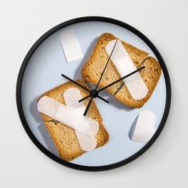 Broken rusk Wall Clock