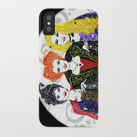 hocus pocus iPhone & iPod Cases featuring Hocus Pocus by The Curly Whirl Girly.