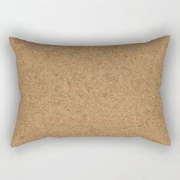 Cork Board Background Rectangular Pillow