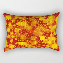 Abstract Yellows and Golds Rectangular Pillow