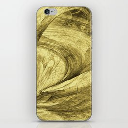 Flying threads of gold iPhone Skin
