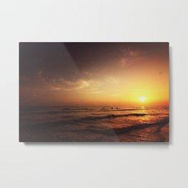 Shoreside Sunset  Metal Print