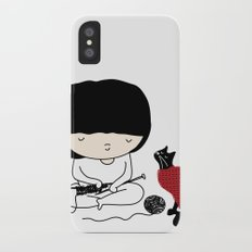 Crazy about wool iPhone X Slim Case