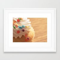 cupcake Framed Art Prints featuring cupcake by Susigrafie
