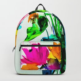 big colorful bouquet Backpack