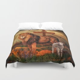 The Lion And The Lamb Duvet Cover