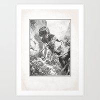Vintage Iron Maiden Art Print