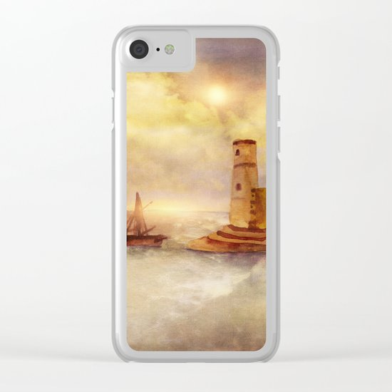 Sun City Clear iPhone Case