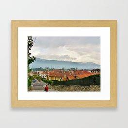 Fog in Llanes, Spain Framed Art Print