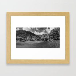 The Langdale Pikes from Copt Howe Framed Art Print
