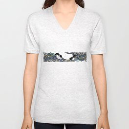 Ants on tablecloth  Unisex V-Neck