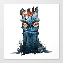 A Grumpy Tree and His Friend Canvas Print