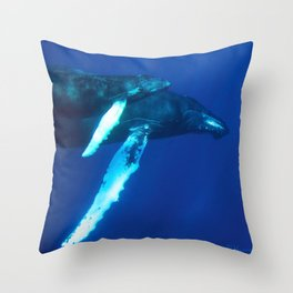 Humpback Whale and her Calf Throw Pillow
