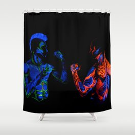 Titan Fighters Shower Curtain