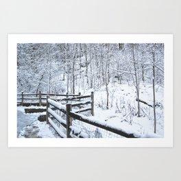 Snowfall at Brickworks on Christmas Day, 2020. LXVII Art Print