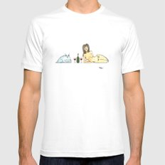 Evening SMALL White Mens Fitted Tee