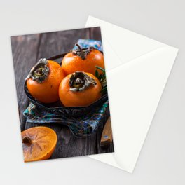 persimmon fruits, still life Stationery Cards